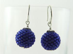 Kulki koralikowe kobaltowe.