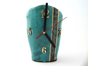 Zegar ceramiczny turkusowy